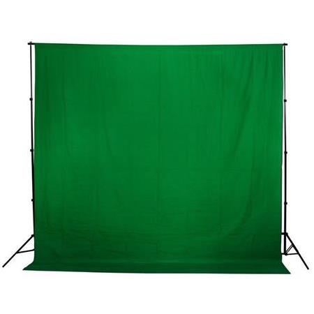 Greenbox Chromakey- Green Screen-Yeşil fon perde(2 x 3 m) ve JINBEI 1.90x3 m Fon Standı Kıt