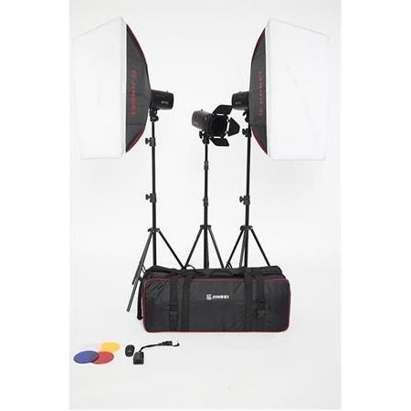JINBEI Caler E II-400w/s Digital Kit 3 lü Paraflaş Set